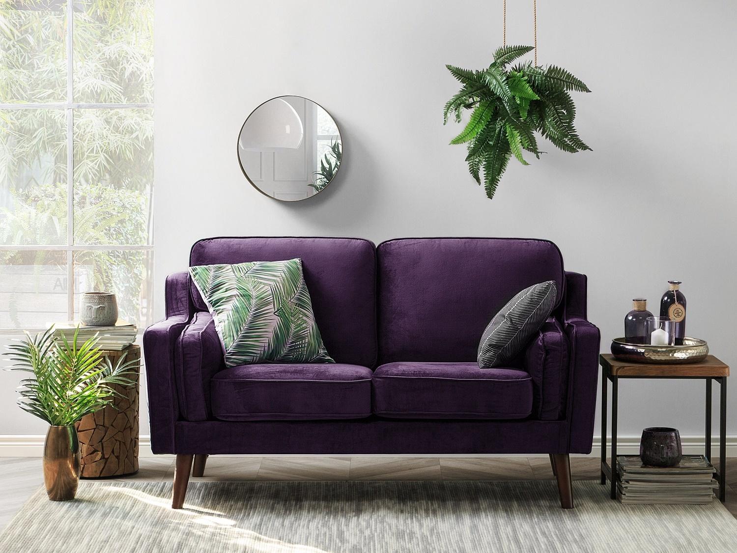 маленький фиолетовый диван