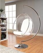 Подвесное кресло Bubble Chair — необычное творение финского дизайнера