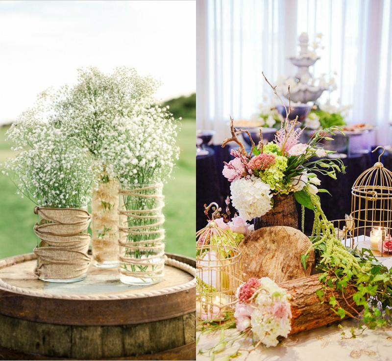 предметы декора для свадьбы в стиле рустик