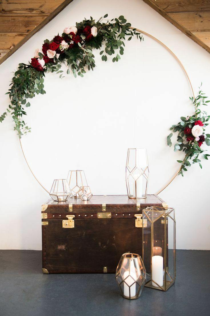 предметы геометрической формы для модной свадьбы