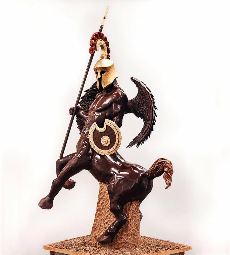 скульптура из шоколада Амори Гишон