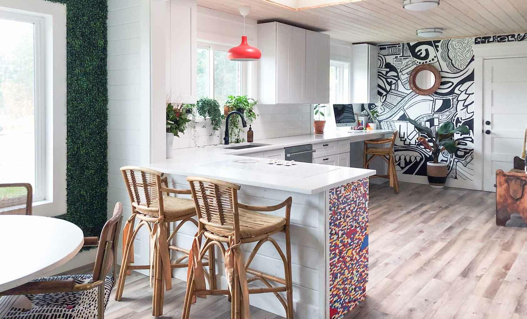 Нарисованный интерьер - кухня