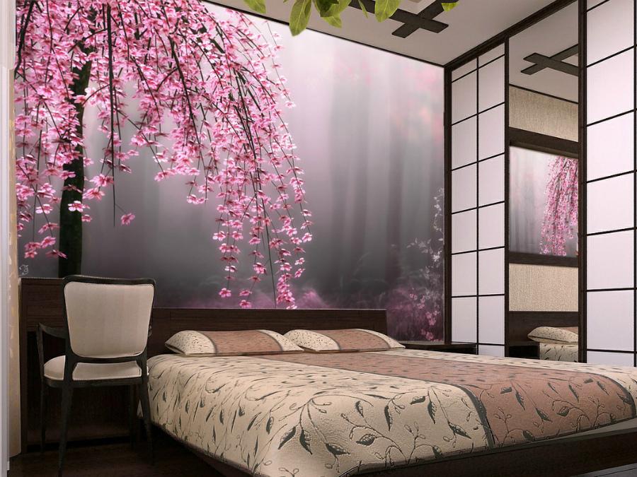 сакура в интерьере квартиры