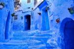 Города мира, выкрашенные в оттенки голубого и синего. Без фотошопа!