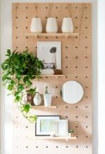 Как сделать самому стеллаж-пегборд на стену. Мастер-класс