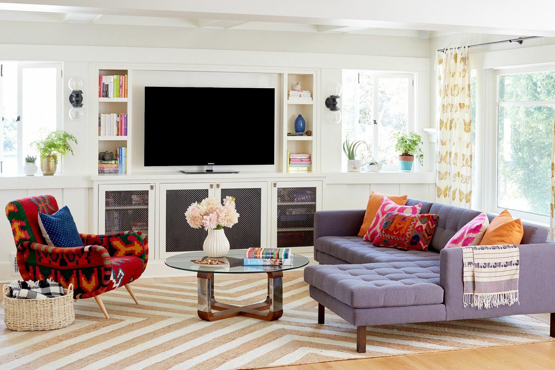 угловой фиолетовый диван