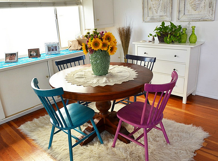 как покрасить стулья