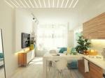 10 вариантов дизайна гостиной с мини-кухней