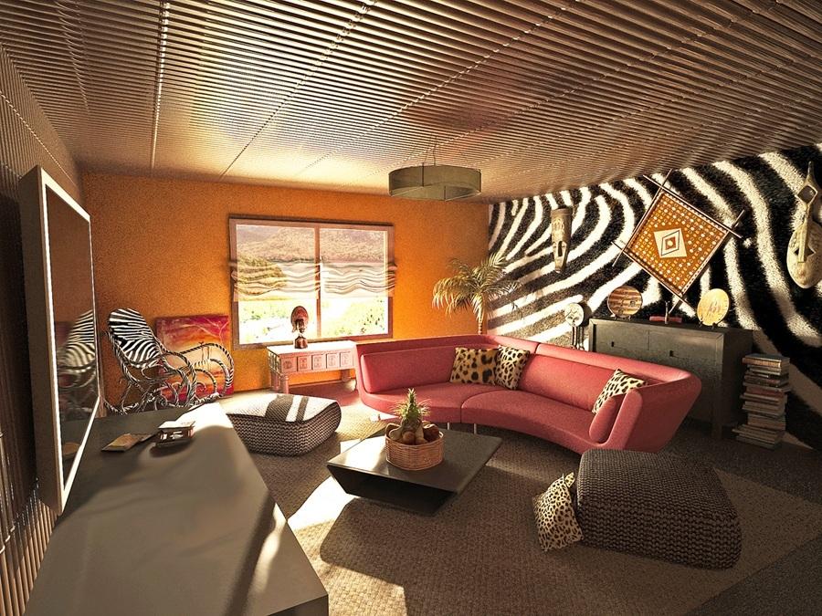 Спальня в стиле сафари фото   675x900
