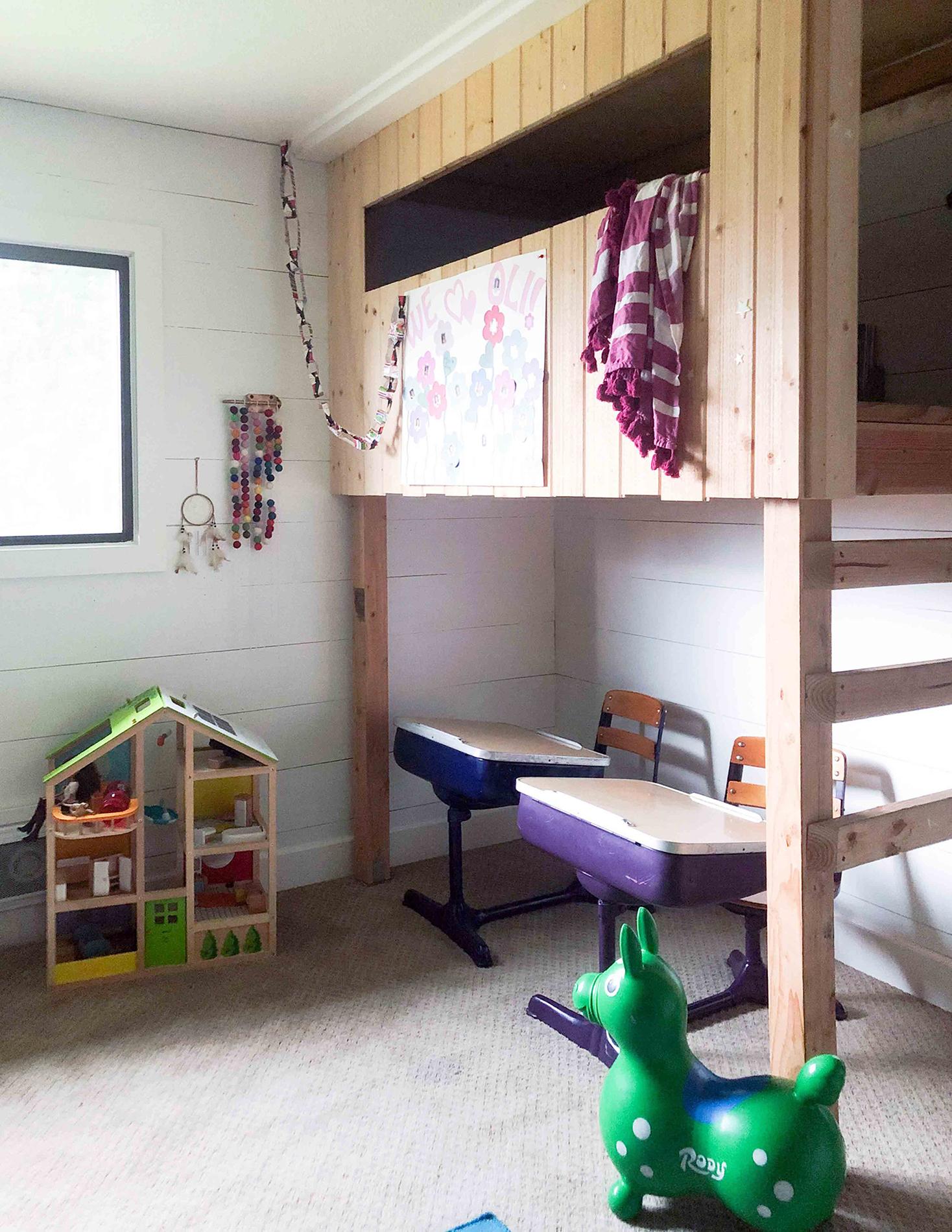 Нарисованный интерьер - детская комната