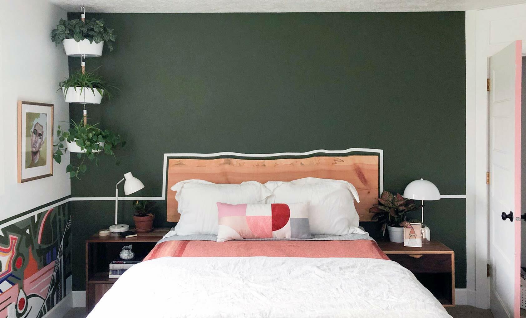 Нарисованный интерьер - спальня