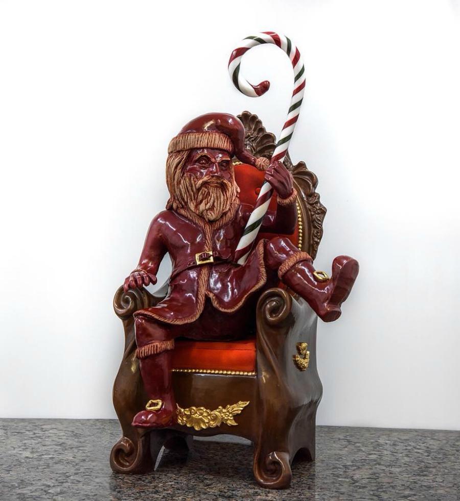 Санта из шоколада