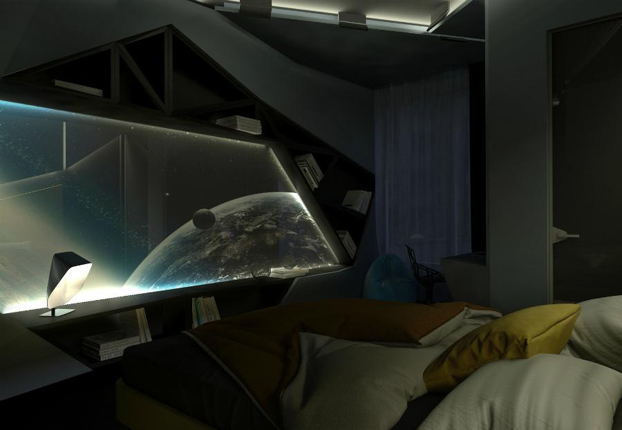 космос в интерьере городской квартиры