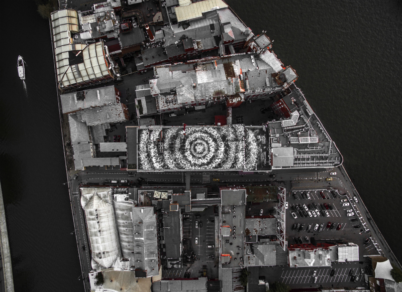 роспись крыши «Красного октября», автор — Покрас Лампас