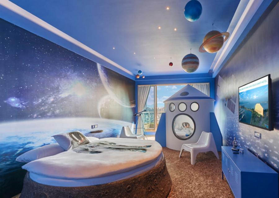 интерьер в стиле космос