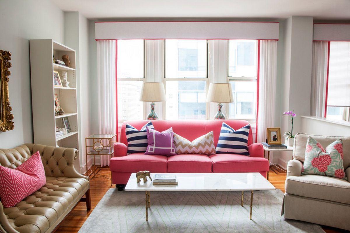 20 гостиных в розовом, которые покорят всех и каждого
