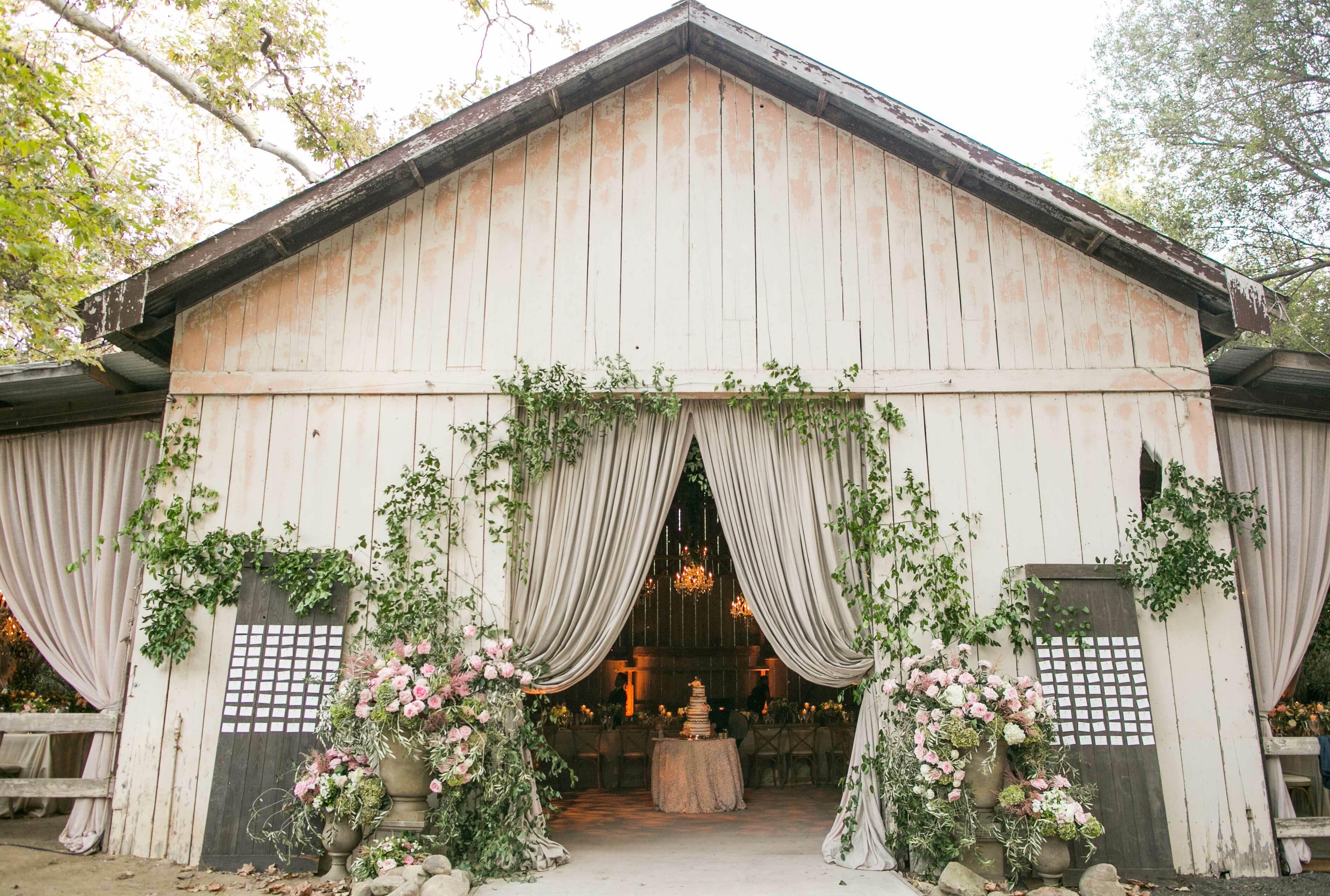 свадьба в стиле рустик, декор помещения