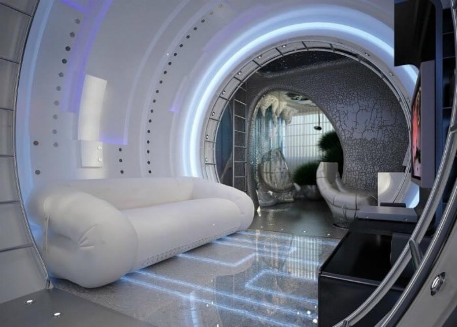 гостиная в стиле космос