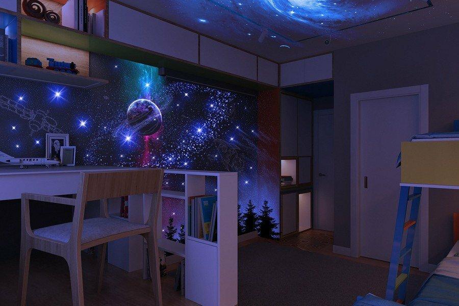 космическая комната для ребенка