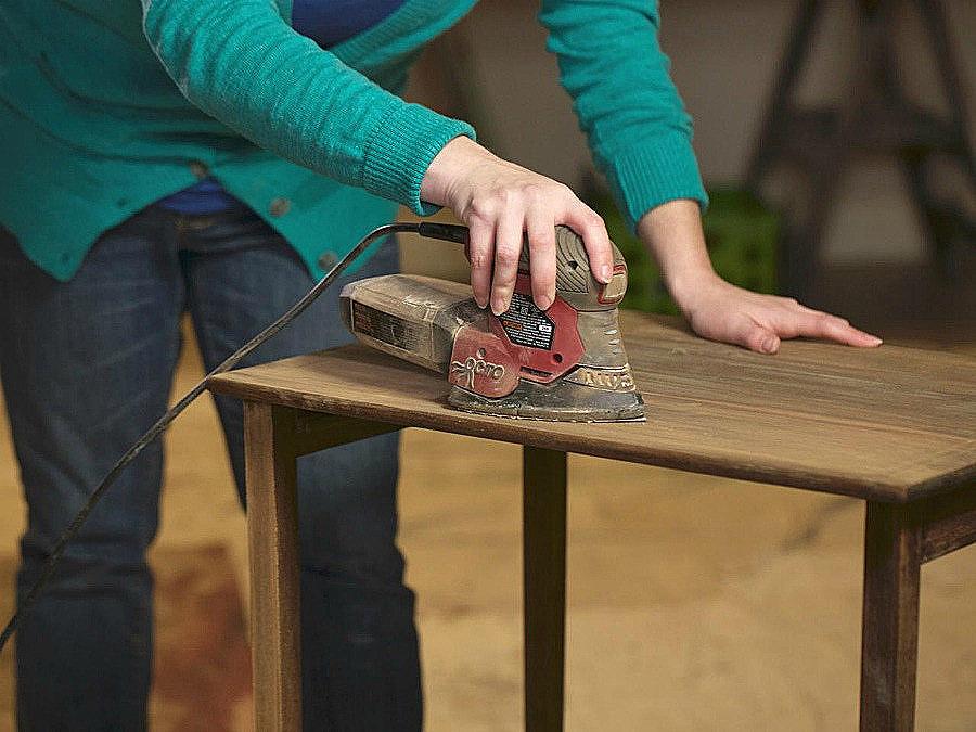 как отшлифовать мебель