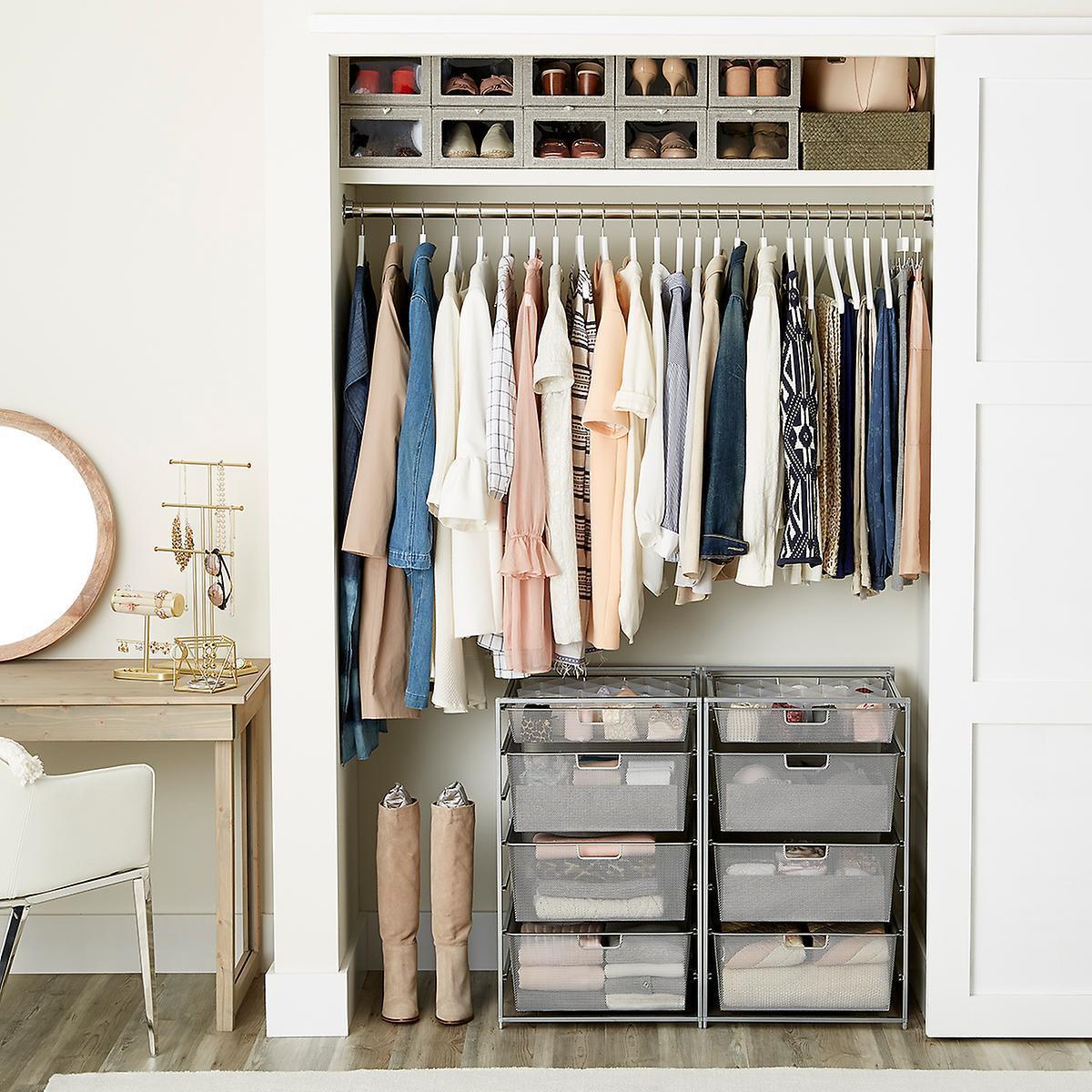 Хранение вещей в шкафу: 20 гениальных идей и лайф-хаков! || Хранение домашних вещей