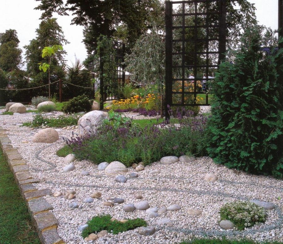 как выбрать место для сада камней