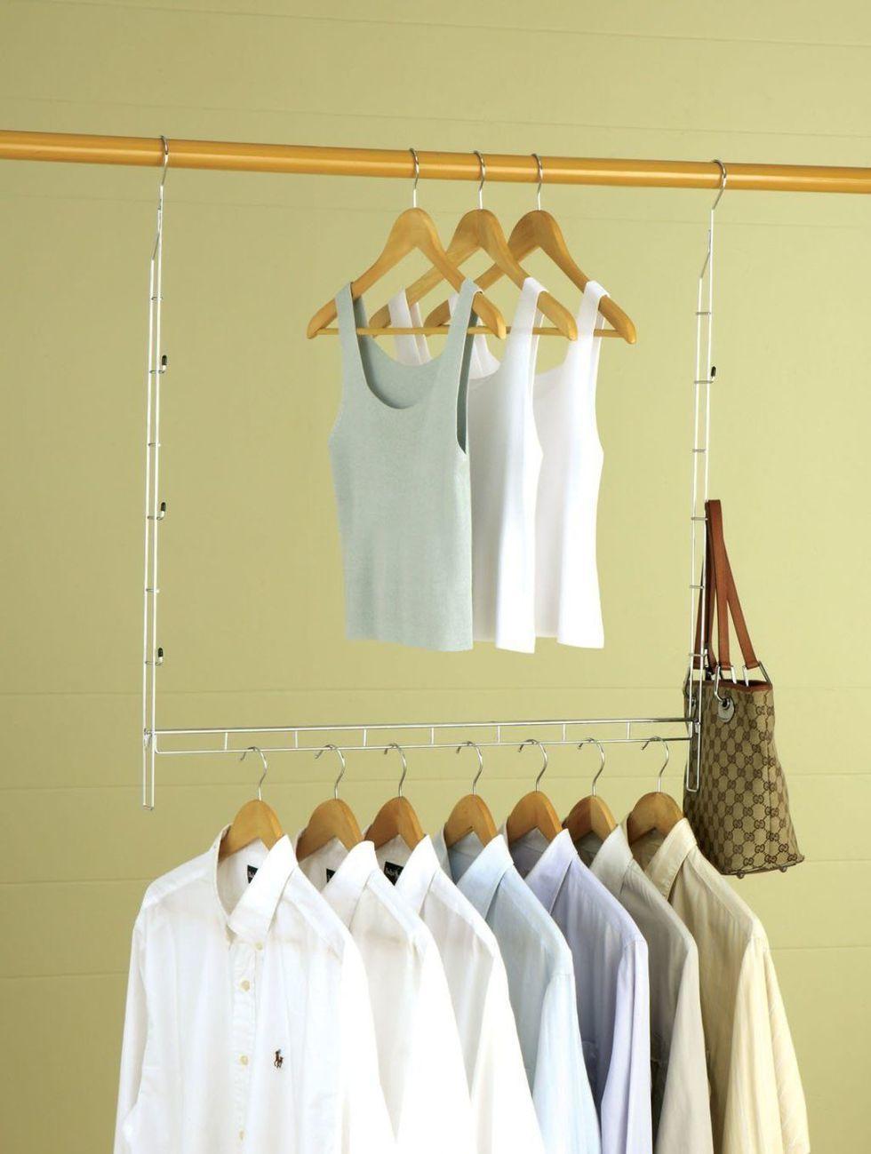 двухуровневая вешалка для хранения одежды