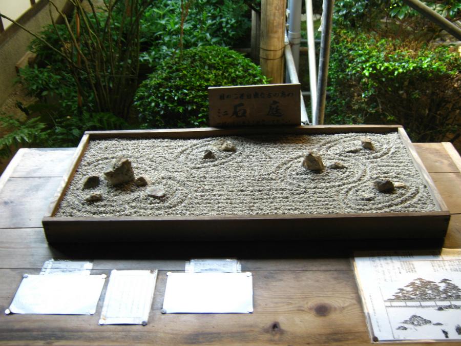 японский сад камней настольный