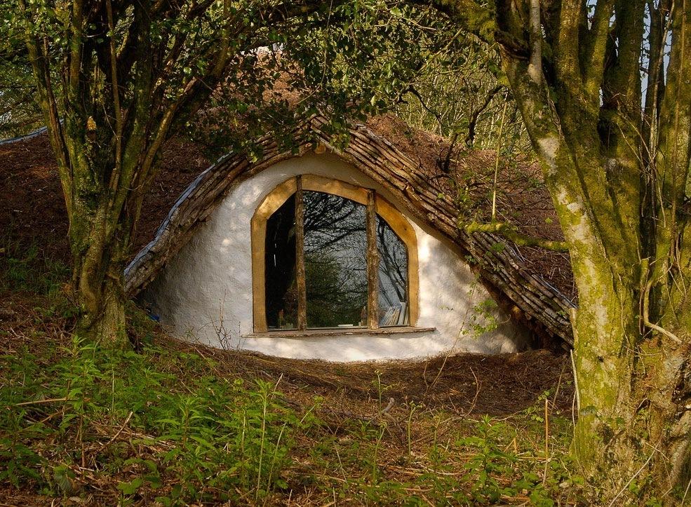 Англичанин своими руками построил в лесу домик хоббитов и живет там со своей семьей