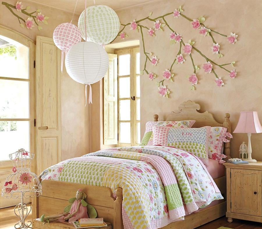 сакура в интерьере спальни