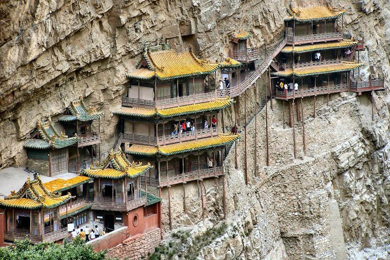 экскурсия в Висячий храм Сюанькун-сы, Дату, Китай
