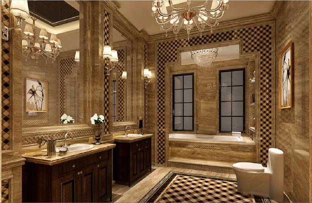 ванная в стиле неоклассика