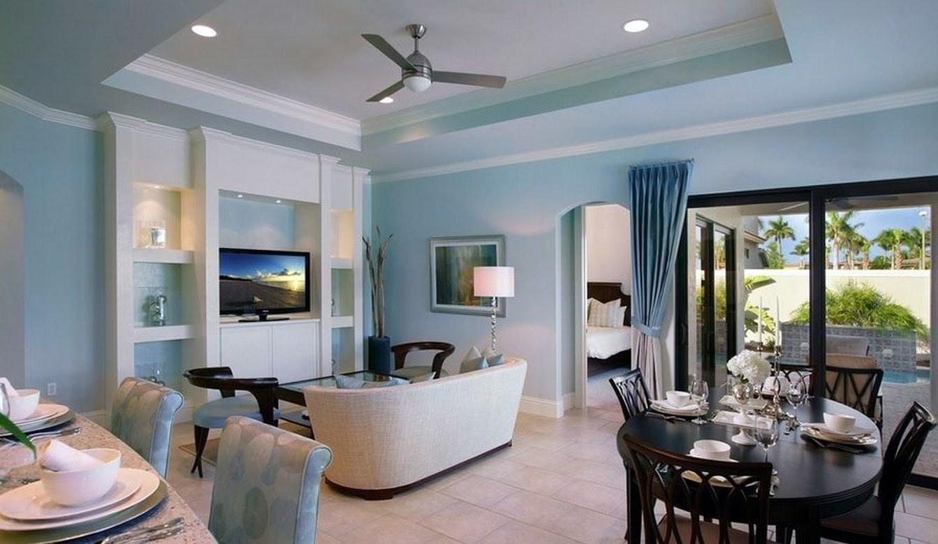 большая голубая гостиная
