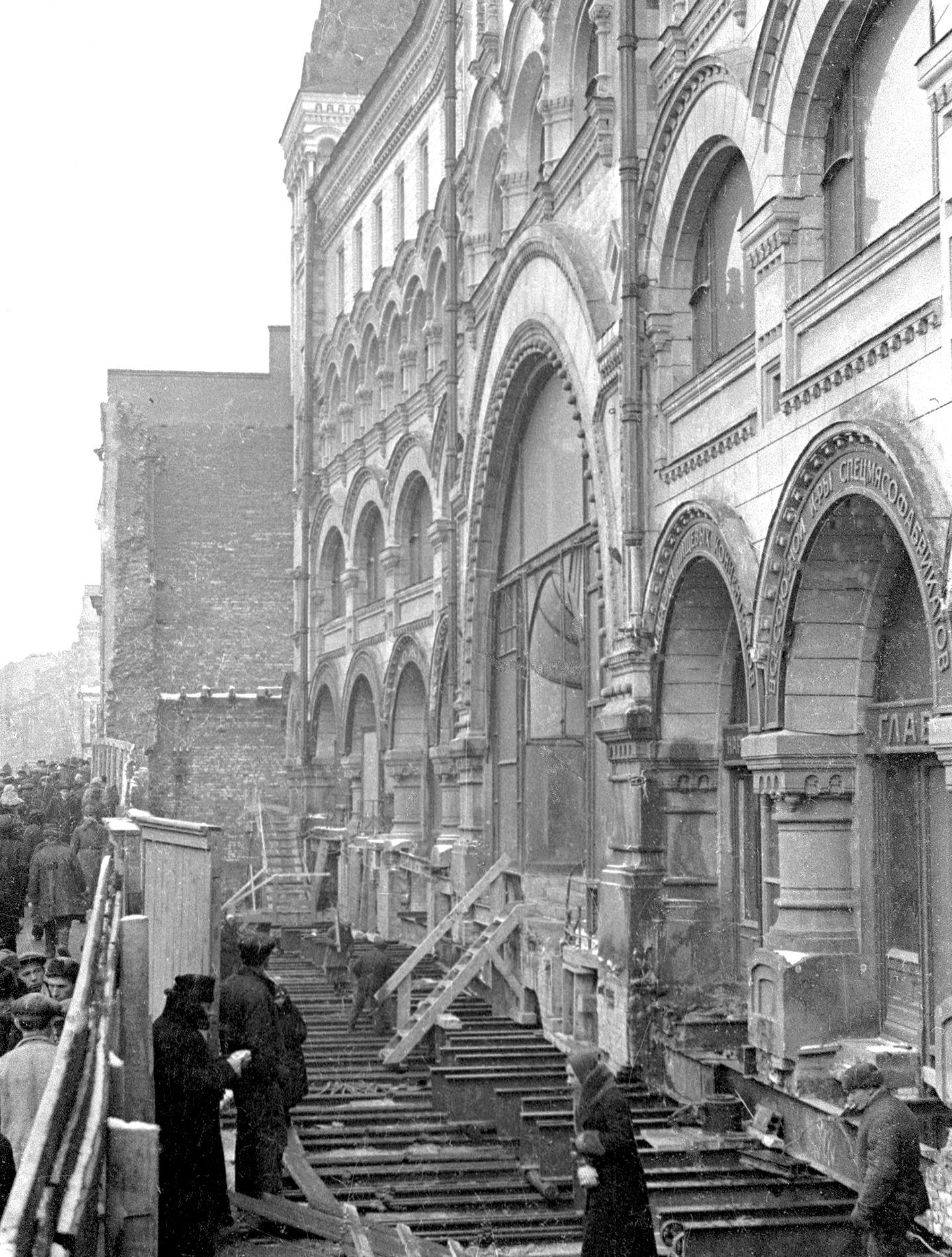как выглядела реконструкция в Москве