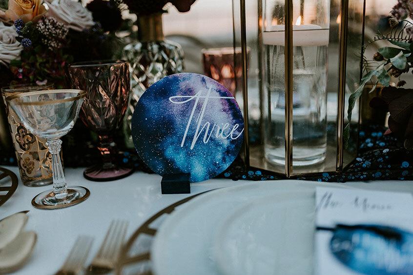свадьба в стиле космос