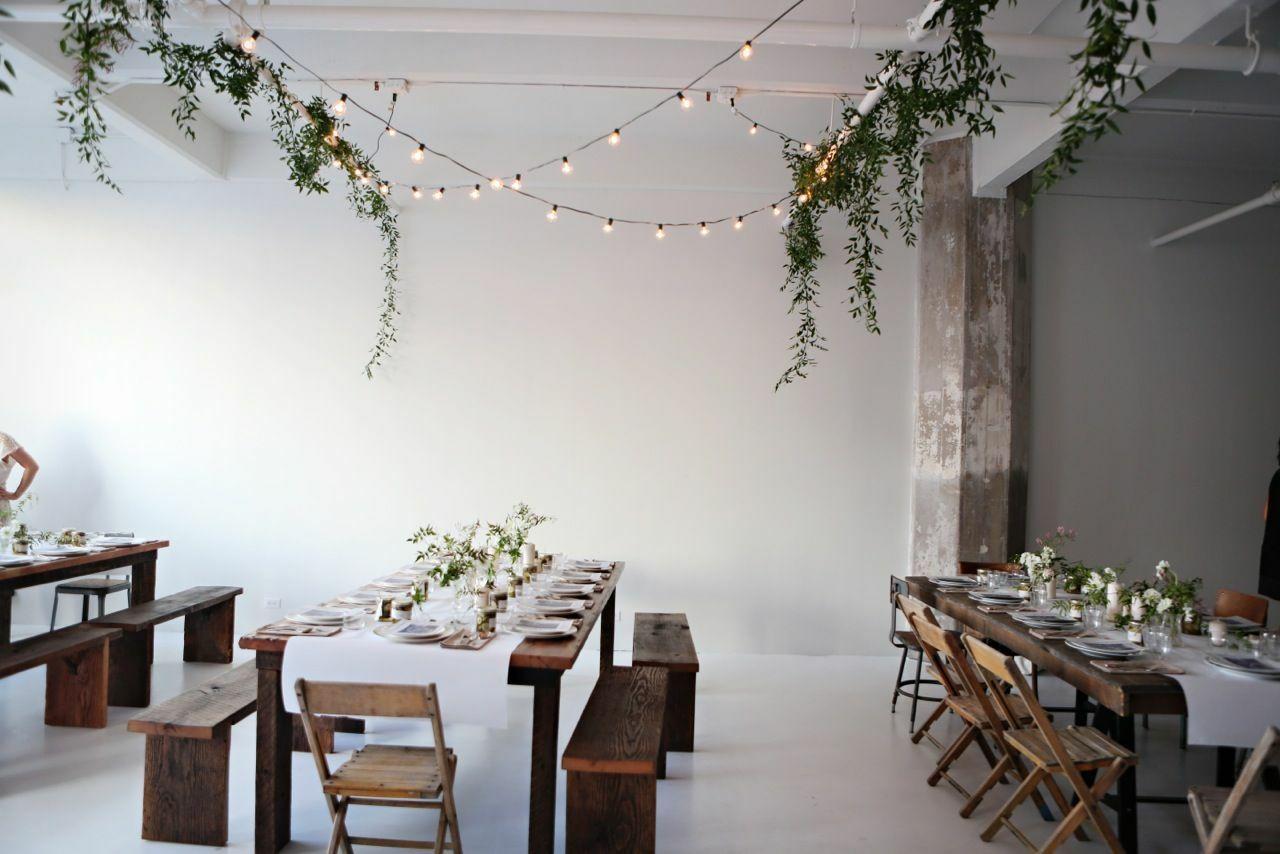 свадьба в скандинавском стиле, декор пмещения