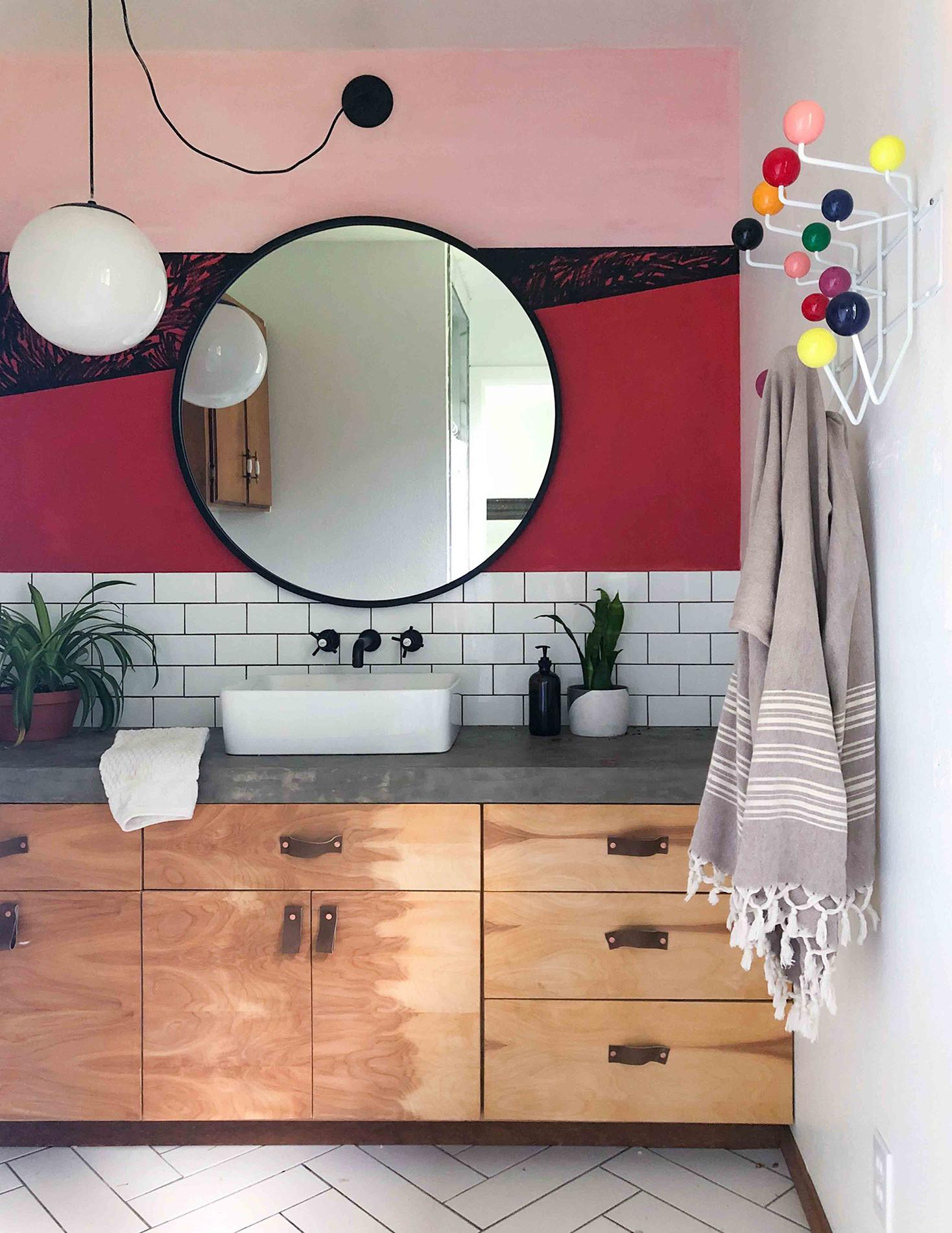 Нарисованный интерьер - ванная комната
