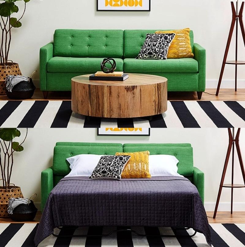 Кровать для гостей в небольшой квартире